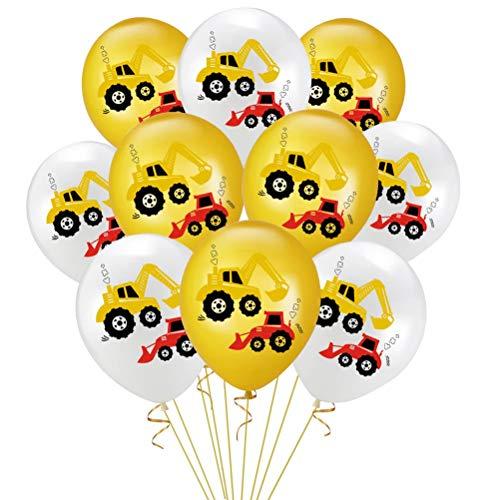 Amosfun 20 unidades/juego de globos de látex de 30,5 cm para niños, para fiestas de cumpleaños (10 globos blancos + 10 globos amarillos)