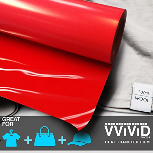 VViViD Red Heavy-Duty Iron-on Heat Transfer Vinyl Film (12 x 3ft Roll)