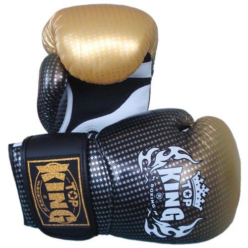 KINGTOP Top King Muay Thai Guantes de Boxeo Super Star tkbgss-01-gd Aire de Oro 10–12–14–16oz.
