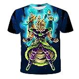 POWARM Camiseta Informal De Verano,Unisex 3D Impresión Animación Dragon Ball Camiseta Verano Cuello Redondo Hombre Deportes Ocio Manga Corta Fitness Outdoor Camiseta-2Xl
