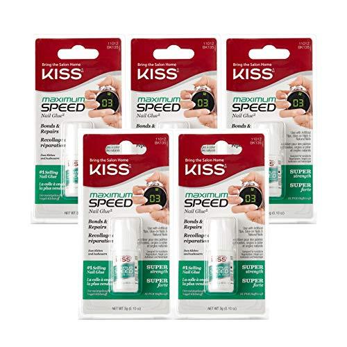 Kiss Products Maximum Speed Nail Glue BK135 (5 Pack)