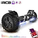 RCB Hoverboard Scooter elettrico fuoristrada Scooter 8.5'' Hummer LED APP Bluetooth...