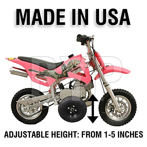 BYP_MFG_INC Adjustable Height Coolster SSR Dirtbike Kids Youth - Training Wheels ONLY -
