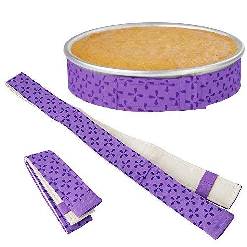 LYTIVAGEN 2 Stück Cake Strips Bake Even Strip aus dicker Baumwolle, Super saugstarke Backen Kuchen Streifen Kuchen Gürtel zum Backen Weihnachtskuchen