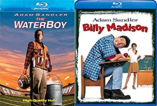Billy Madison Blu Ray + The Waterboy Comedy Double Feature Adam Sandler Bundle Movie Set