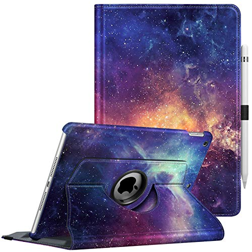 FINTIE Case for New iPad 10.2' 8th Generation 2020 / 7th Generation 2019, 360 Degree Swivel Rotating Smart Stand Protective Cover, Supports Auto Wake/Sleep Feature, Galaxy