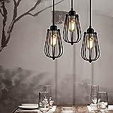 Plafonnier Industriel Lustre E27 Suspension Vintage Edison Minimaliste Lampe suspendu Rétro Antique...
