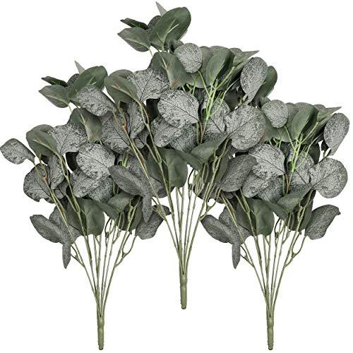 TERESA'S COLLECTIONS Plantas de Flores de Hoja de Eucalipto Artificiales de Plástico...