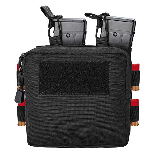 ProCase Tactical Admin Molle Pouch with 2 Rifle Magazine Pouch for M4 G36 HK416 AR AK 5.56/7.62 mm Magazines –Black -  PC-08362551