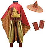 Girls Raya Cosplay Costume Dragon Princess Warrior Suits Jumpsuit Full Set Outfits for Halloween (XL(Height:130-140CM), Raya Full Sets)