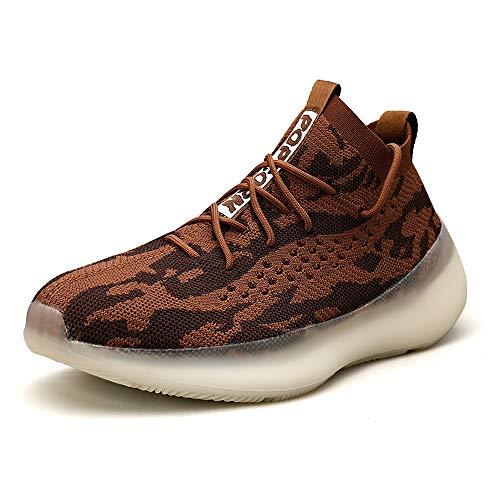 Zapatillas Moda Running para Hombre Deportivas Hombre Mujer Zapatos para Correr Gimnasio Sneaker Aire Libre y Deportes Calzado Brown 39