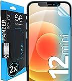 [2 Stück] 3D Schutzfolien kompatibel mit iPhone 12 Mini - [Made in Germany - TÜV Nord] – Hüllenfreundlich – Transparent – kein Glas sondern Panzerfolie TPU