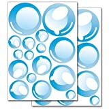 Wandkings Pegatinas para la pared - Pompas de jabón - Juego de adhesivos de 32 unidades en 2 hojas DIN A4