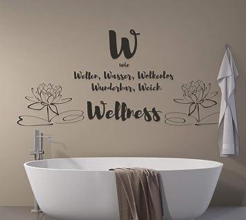 Tjapalo A91 Wandtattoo Wellness Spruche Wandsticker Wandaufkleber Wandtattoo Badezimmer Wellness Spruch Farbe Schwarz Grosse B58xh26cm Amazon De Baumarkt