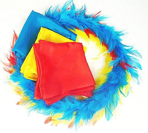 Doowops Cambio de Color Círculo de Plumas Trucos de Magia Conjunto Completo con pañuelos Cierre de apéndices de Trucos Ilusión Mentalismo Comedia