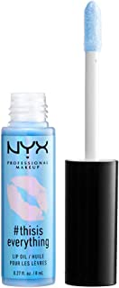 NYX PROFESSIONAL MAKEUP #thisiseverything Lip Oil, Sheer Sky Blue, 0.027 Ounce