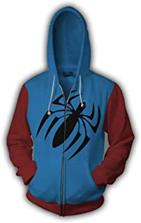 Scarlet Spider 3D Style Zipper Hooded Sweatshirt Cos Kids/Unisex Adult