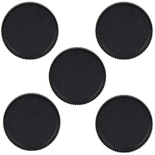 DAUERHAFT Copriobiettivo da 5 Pezzi, Kit copriobiettivo in plastica Nera, per Obiettivo della Fotocamera Leica L39 M39, con Vite da 39 mm, Leggero Resistente alla Polvere e Resistente ai Graffi