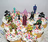 Teenage Mutant Ninja Turtles Deluxe Mini Cake Toppers Cupcake Decorations Set of 12 Figures with The 4 Turtles, Splinter, Ninjas, Shredder and More!