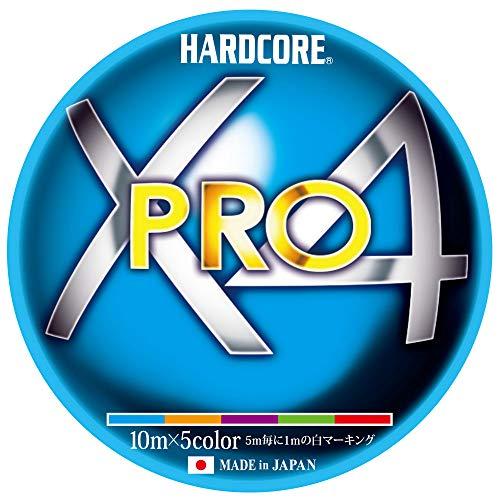 DUEL(デュエル)HARDCORE(ハードコア)PEライン0.4号HARDCOREX4PRO200m0.4号10m×5色ホワイトマーキングH3871