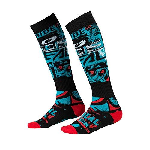 O'NEAL | Mountainbike Motocross Socken | MTB Downhill Freeride | Schweißabsorbierend, Verstärkter Fersen & Sohlenbereich | Pro MX Sock RIDE | Unisex | Erwachsene | Schwarz Blau | One Size
