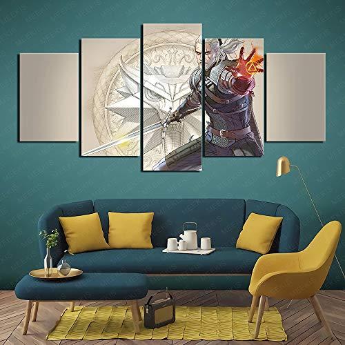 Soul Ability 6 Pintura impresa en HD 5 paneles Ambiente de tienda 100x50cm Sin marco