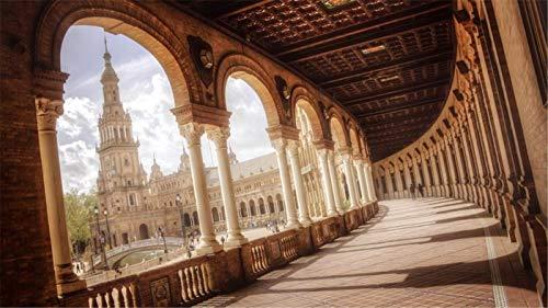 KCHUEAN 1000 Piezas Rompecabezas Decoracion De Muebles Plaza De España Sevilla De Madera Montaje Personalizado