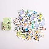 BLOUR 46 unids/Caja Flores de Verano Diario Decorativo Pegatina Cuaderno álbum Mano Cuenta decoración