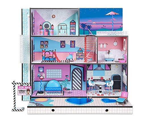MGA Entertainment L.O.L. Surprise House LOL Haus Pool Spielhaus Puppen 85 Überraschungen UNbox Me! Exklusive Familie Aufzug Möbel Truck Holz Puppenhaus