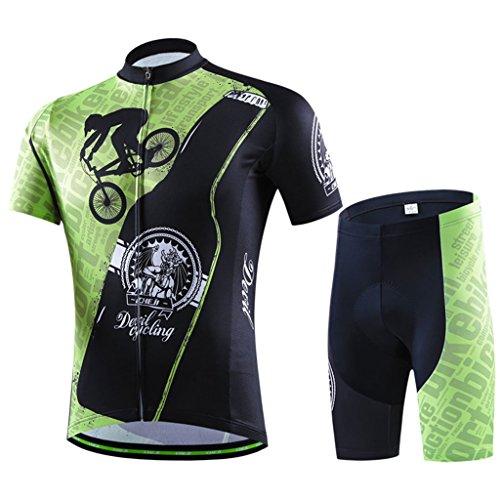 GWELL Maillot de ciclismo para hombre, maillot de manga cort