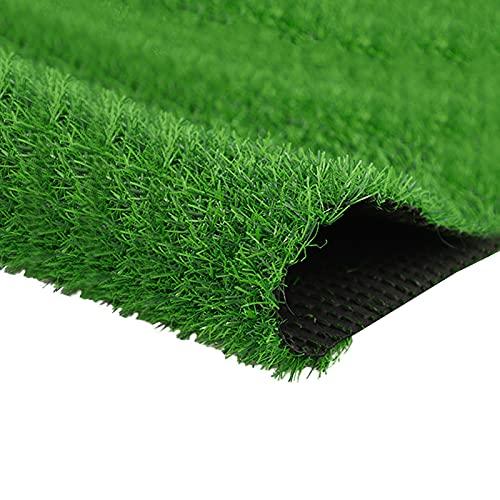 Quesuc Tapis de Gazon Artificiel Balcons et Terrasses Extérieurs Pelouse Synthetique | Perméable à l'eau Avec Protection UV | Convient pour Intérieur et Extérieur | 20mm d'épaisseur(100x100 CM)