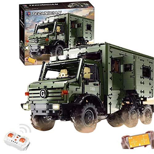 ReallyPow Technik Off-Road Auto, Fernbedienung + App-Gesteuertes, LKW mit Licht, Wohnmobil Kompatibel mit Lego Technic - 6689 Teile