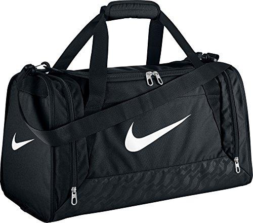 Nike Brasilia 6 Small Duffel, Gym Red/Black/White, One Size