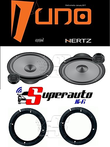 Hertz LINEA UNO K165 K 165 KIT ALTOPARLANTI DUE VIE CASSE AUTO 165 mm + supporti casse SKODA Yeti dal 2009 165 cm