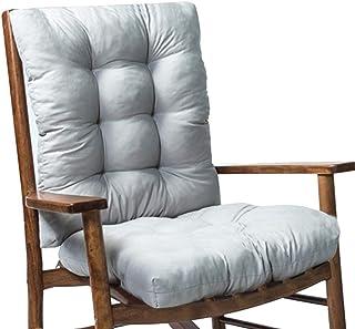 ALBEFY Cojines para sillas de jardín,Cojín para Silla Mecedora de 2 Piezas cojín Grueso para Asiento Silla de ratán cojín para sofá Respaldo e Inferior para Viajes Vacaciones jardín