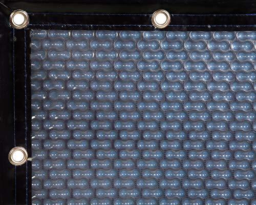 INTERNATIONAL COVER POOL Cobertor térmico 500 micras GeoBubble Energy Guard para Piscina de 4 x 8 Metros con Refuerzo en Todo el Contorno