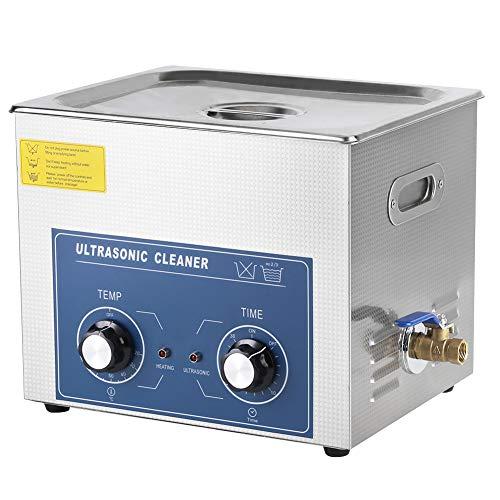 Cocoarm Limpiador ultrasónico, Profesional Acero Inoxidable baño Dispositivo Lavadora Ultrasonido con Cesta Cleaner Limpiador para Joyas, Gafas, Monedas (10L)