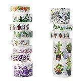 Cinta Adhesiva Decorativa de Varios Patrones Para Manualidades Washi Tape Para...
