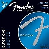 Fender 073-0150-310 E-Gitarren Saiten'150R, 3er Pack Pure Nickel, 010/046'