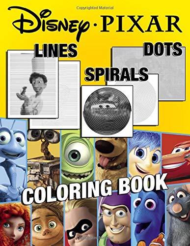 Pixar Lines Spirals Dots Coloring Book: An Exclusive Coloring Book With High Quality Lines Spirals Dots Images