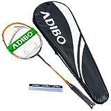 ADIBO Badminton Racket, Professional Badminton Racquet with Bag for Outdoor (CP2700)