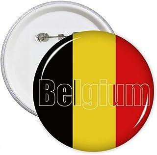 DIYthinker Le cadeau Belgique Pays Drapeau Nom Ronde Pins Bouton Badge Vêtements Décoration Multicolore XL