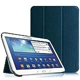 Fintie Housse pour Tablette Samsung Galaxy Tab 3 Tablette 10.1 Pouces - Ultra-Mince et Léger PU Cuir Etui Cover Case avec Support et la Fonction Sommeil/Réveil Automatique, Bleu Marrine