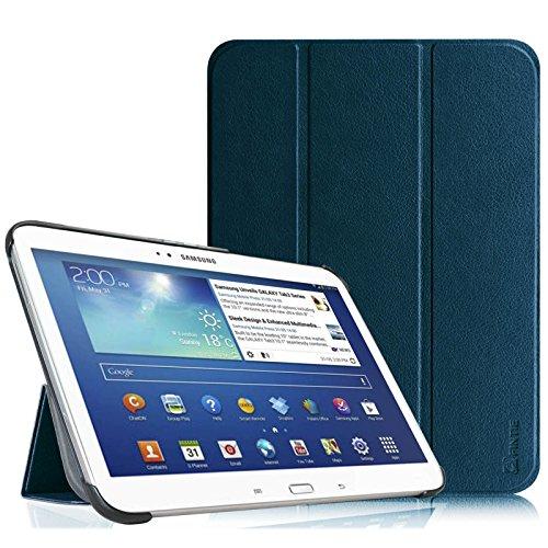 Fintie SlimShell Funda para Samsung Galaxy Tab 3 10.1 - Súper Delgada y Ligera Carcasa con Función de Soporte y Auto-Reposo/Activación para Modelo P5200 / P5210, Azul Oscuro