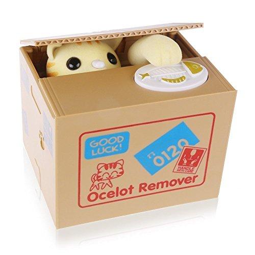 OBEST Hucha de gato en caja con sonido (Lucky Cat)