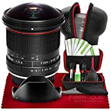 Vivitar 8mm f/3.5 Professional Ultra Wide Angle Aspherical Fisheye Lens for Canon EOS 70D 77D 7D Mark II 80D 90D SL2 SL3 T5 T5i T6 T6i T6s T7 & T7i + Hard Shell Lens Case & 8-in-1 Pro Cleaning Kit