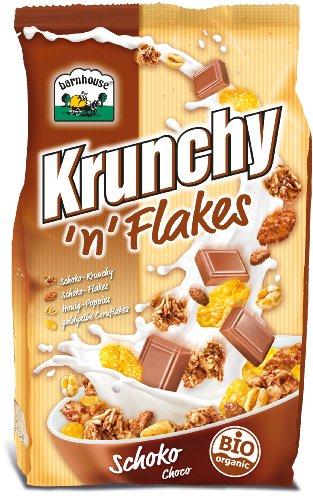 Barnhouse, Krunchy Muesli Cereales Con Copos De Maíz Y Chocolate, Ecológico, Vegetariano, 375 G, 3 piezas