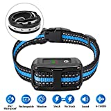 PetYeah [Upgraded 2019] Dog Anti Bark Collar Smart Detection Adjustable Collar Rechargeable Rainproof Beep Vibration Shock 5 Sensitivity Humane & Harmless Bark Collar for Small Medium, Large Dog