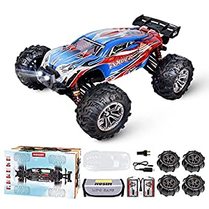 1:16 Brushless 55+ kmh High Speed Large RC Cars,Remote Control Car 4x4 Off Road Monster Truck Electric All Terrain Waterproof Toys Hobby Vehicle for Kids and Adults - 2 Batteries for 40+ Min Play