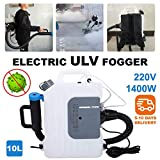 Portable ULV Fogger/Sprayer Backpack Machine 10L Electric, 110V, Distance 8-10 Meters - Disinfection Sprayer, Large Area Disinfection Machine Suitable for Indoor Outdoor Garden Home Hotel School